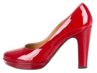 Hermes Patent Leather Round-Toe Pumps