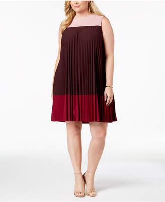 Alfani Plus Size Pleated Swing Dress, Created for Macy's