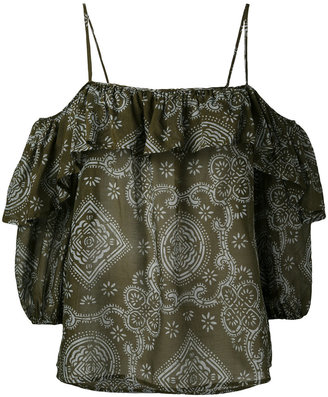 Jucca off shoulder blouse $244.18 thestylecure.com