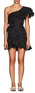 Isabel Marant Women's Jiska Cotton Poplin One-Shoulder Dress-Black