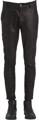 Isabel Benenato 17cm Slim Fit Soft Nappa Leather Pants