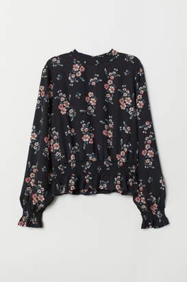 H&M Blouse with Smocking - Black