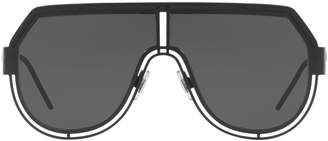 Pilot Cut-Out Logo Sunglasses