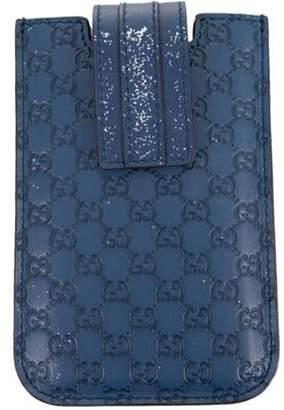 Gucci Signature Leather iPhone 5 Phone Case Blue Signature Leather iPhone 5 Phone Case