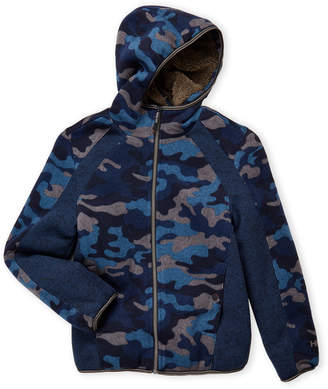 Hawke & Co Boys 8-20) Hooded Sherpa-Lined Jacket