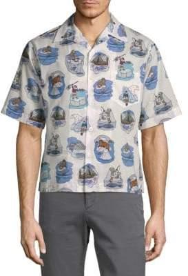 Prada Cotton Ice Fishing Shirt