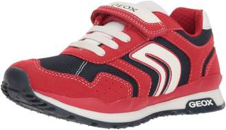 Geox Boy's J Pavel Sneakers, Red/Navy