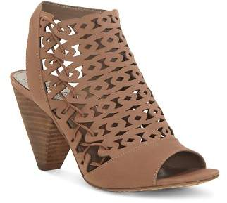 Vince Camuto Women's Emberla Perforated Leather Cone Heel Sandals