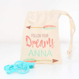 red berry apple Girls Dreamcatcher Bracelet With Personalised Bag