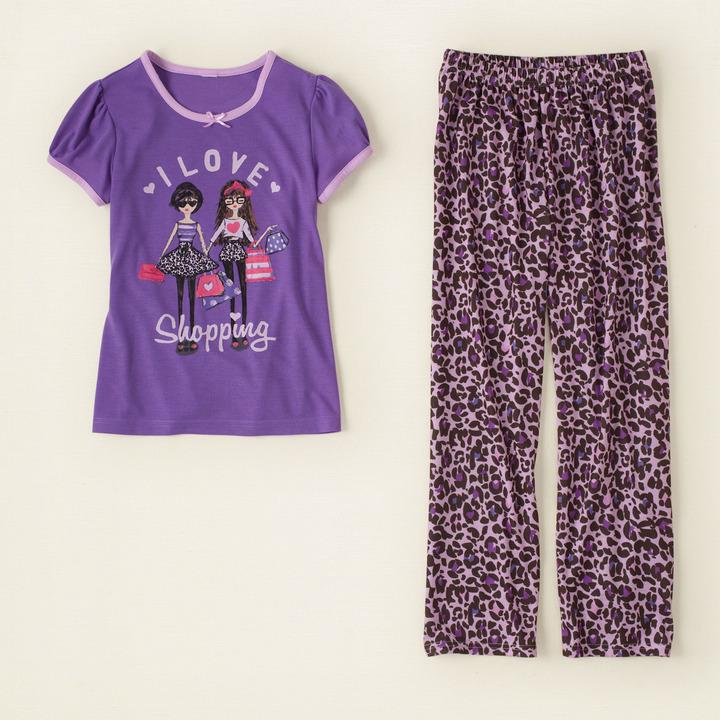 Children's Place Leopard pj set