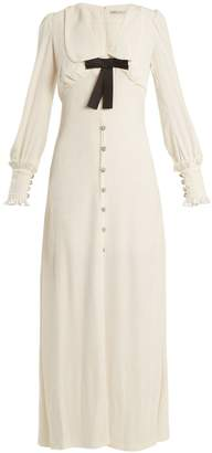 ALESSANDRA RICH Froisse button-down velvet dress