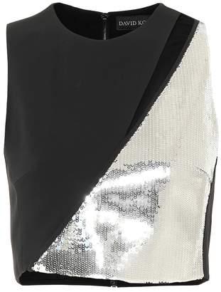 af72e0118f9 Silver Sequin Crop Top - ShopStyle Canada