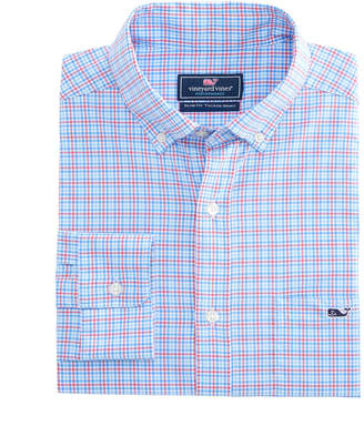 Vineyard Vines Boldwater Plaid Performance Cotton Slim Tucker Shirt