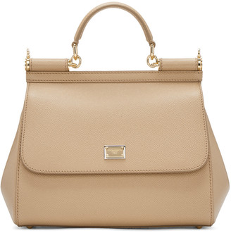 Dolce & Gabbana Tan Medium Miss Sicily Bag $1,695 thestylecure.com