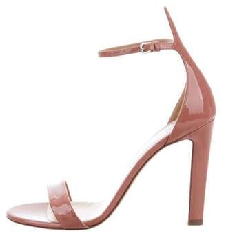 Francesco Russo Patent Leather Ankle Strap Sandals w/ Tags