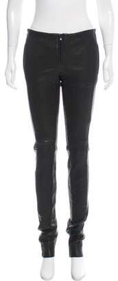 Barbara Bui Mid-Rise Textured Leather Leggings w/ Tags