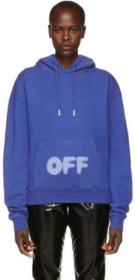 Off-White Off White Blue Blurred Logo Hoodie
