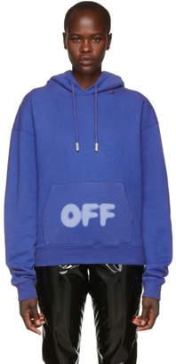 Off-White Blue Blurred Logo Hoodie