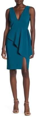 Laundry by Shelli Segal Core V-Neck Peplum Dress