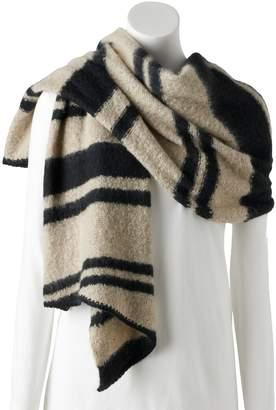 Chaps Women's Boucle Striped Blanket Scarf