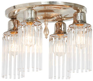 Rejuvenation Silver-plated Colonial Flush Fixture w/ Crystal Rods