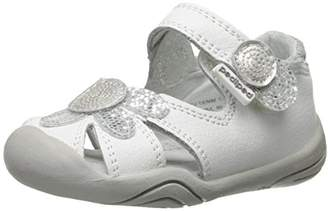 pediped Daisy, Baby Girls' Sandals, White Silver