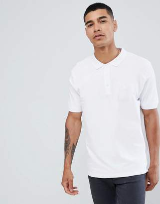 Pull&Bear Join Life polo in white with sunset embroidery