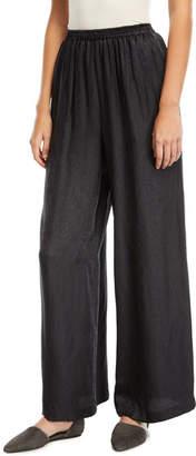 eskandar Embroidered Effect Silk Jacquard Flared Trousers