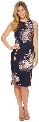 Adrianna Papell Linear Garden Printed Sheath Women's Dress