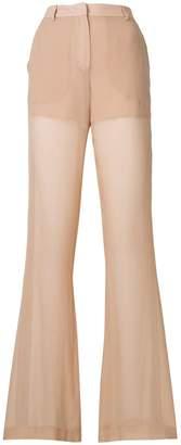 Vionnet stripe detail wide-leg trousers