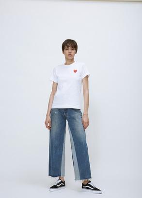 Comme des Garcons PLAY white t-shirt $105 thestylecure.com