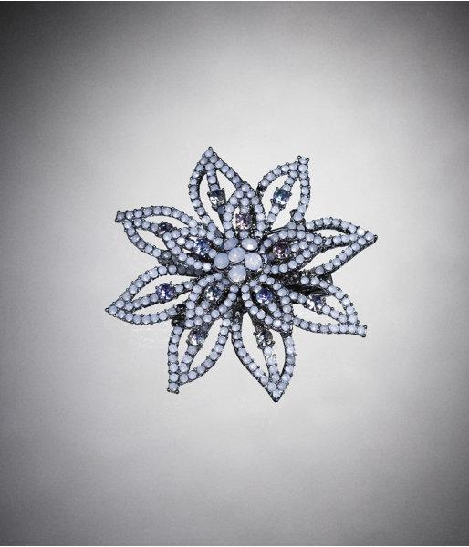 Rhinestone Flower Clip