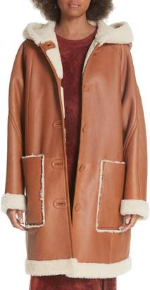 Elizabeth and James Carver Genuine Shearling Coat