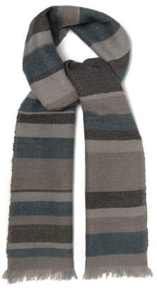 From The Road - Kosa Cashmere Scarf - Mens - Grey Multi