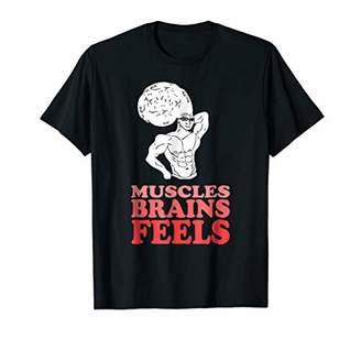 Bodybuilding Smart Geek Feels Buff Guy Feelsman Meme Tshirt