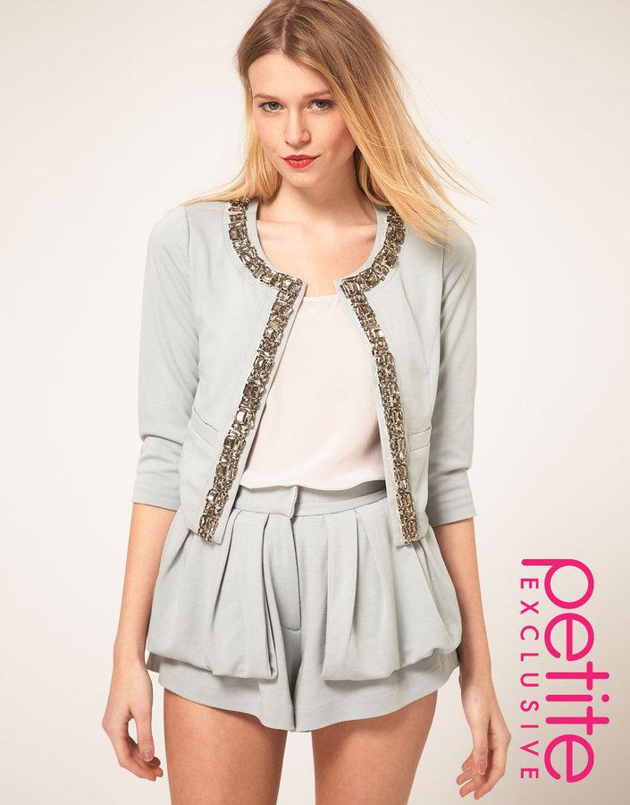 ASOS PETITE Exclusive Jacket With Embellishment