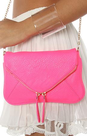 *MKL Accessories The Pop Art Crossbody Clutch in Neon Pink