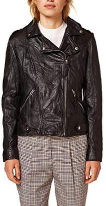 Esprit Women's 088ee1g015 Jacket, (Black 001)