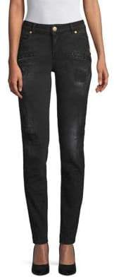 Pierre Balmain Distressed Dark Jeans