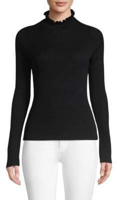 Rebecca Taylor Ruffled Merino Wool Sweater