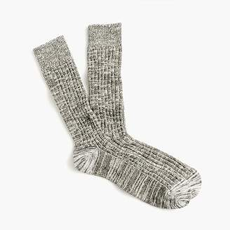 J.Crew Ribbed marled cotton socks