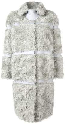 Bottega Veneta faux fur panelled coat