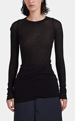 Rick Owens Women's Rib-Knit Long-Sleeve T-Shirt - Black