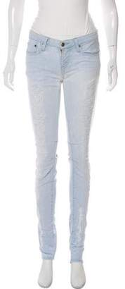 Helmut Lang Distressed Low-Rise Jeans