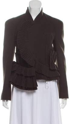Givenchy Ruffle-Accented Wool Jacket