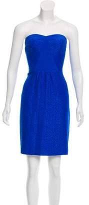 Rebecca Taylor Strapless Silk Mini Dress