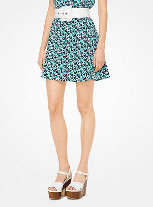 Michael Kors Carnation Silk-Georgette Skirt