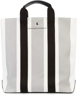 Calvin Klein striped tote bag