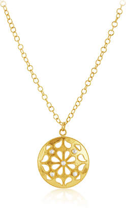 Amrapali Legend Medium Shevanti Disc Pendant Necklace with Diamonds, 24""