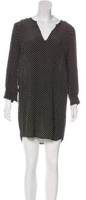 Joie Polka Dot Long Sleeve Mini Dress
